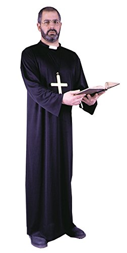 The Priest Movie Costume (UHC Men's Priest Outfit Religious Theme Fancy Dress Adult Costume, OS)