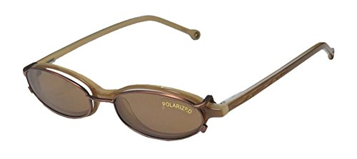 SmartClip 908 Mens/Womens Designer Full-rim Sunglass Lens Clip-Ons Flexible Hinges Eyeglasses/Spectacles (48-16-140, Suede / Brown Clip-on - Cycling Progressive Prescription Sunglasses Lenses