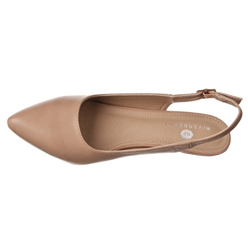 Pump Riverberry Bella Women's Pointed Back Low Toe Pu Taupe Heels Height Sling BB8wqr