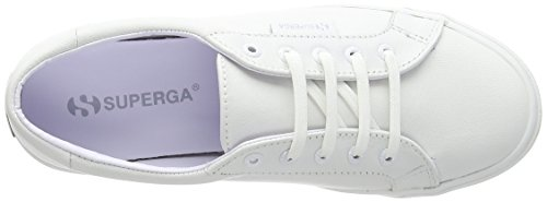 Superga Unisex 2804 Nappau - Totale Witte (leren) Dames Sportschoenen Wit