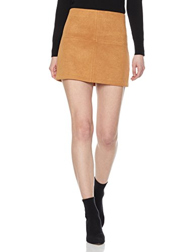 Painted Heart Women's Patchwork Faux-Suede Mini Skirt