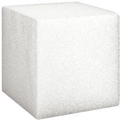 Styrofoam Floracraft Bulk Buy Styrofoam Cube 3 inch x 3 inch x 3 inch Bulk-White B333W (24-Pack)]()