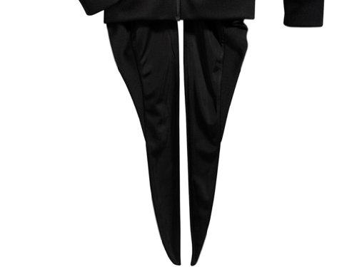 Adidas Jeremy Scott JS Men's Tie Tails Track Top, X30169, Black/White, Medium