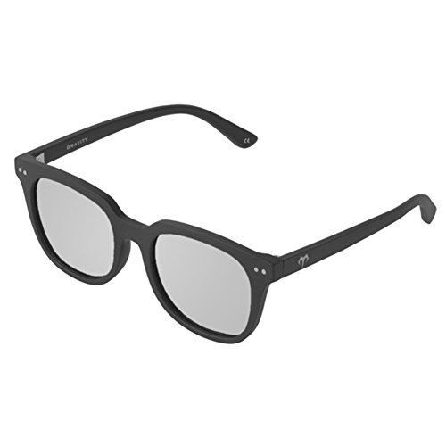 Gravity Carbon (Marsquest Unisex Gravity Polarized Carbon Black x Silver Sunglasses)