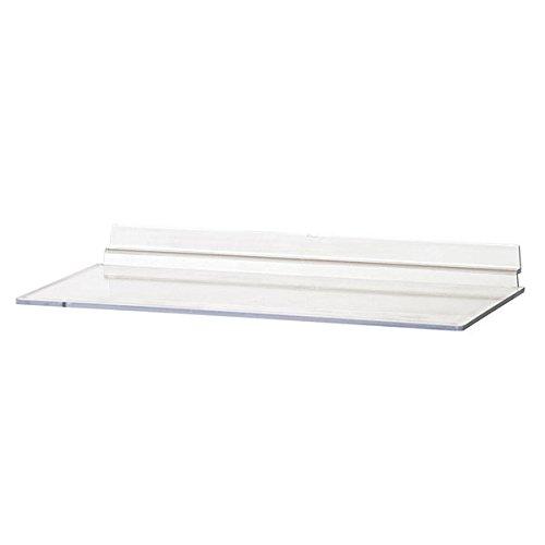 - KC Store Fixtures A02103 Acrylic Slatwall Shelf - 10