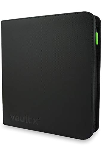 Vault X Binder - 12 Pocket Trading Card Album Folder - 480 Side Loading Pocket Binder for TCG (Black) (Premium)