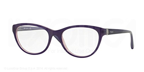 88271d6ecb1a6 Image Unavailable. Image not available for. Color  Vogue Eyeglasses VO2938B  1312 Top Dark Violet Opal Lilac ...
