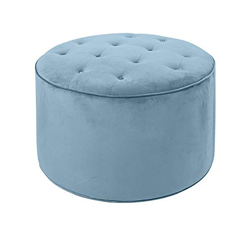 Wood & Style Furniture Ottoman, Capri Blue Home Office Commerial Heavy Duty Strong Décor