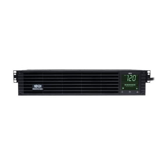 Tripp Lite Smart 1000VA Sine Wave UPS Back Up, 6 Outlets, 800W Line-Interactive, 2U Rackmount, LCD, USB, DB9 (SMART1000RM2U) 6 1 Kilo Volt Ampere 800 Watts UPS Battery Backup Power Supply with AVR, Sine Wave output & interactive LCD monitoring 120 Volt NEMA 5 15P input, 6 NEMA 5 15R outlets 4 switchable via network interface Supports a half load of 400 watts on battery for 15 minutes