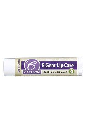 Carlson E-Gem Lip Care 1,000 IU, Vitamin E, 1 Tube