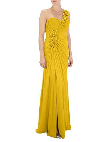 A Charmant Brautjungfernkleider Gelb Bodenlang Damen Einfach Rosa Linie Abendkleider Ein Neu Traeger Dunkel 88pxrFg