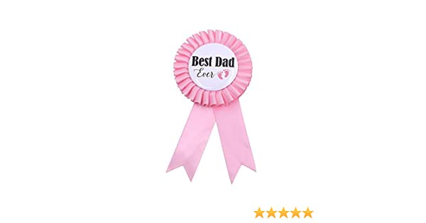TTCOROCK Light Blue Baby Shower Button New Dad Gifts Gender Reveals Party Baby Boy Blue Rosette Button Baby Celebration Daddy to Be Tinplate Badge Pin