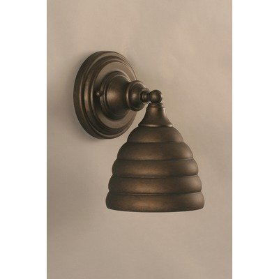 (Wall Sconce w 7 in. Beehive Metal Shade )