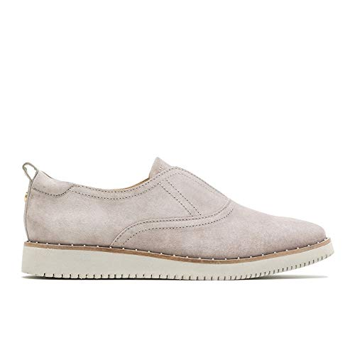 (Hush Puppies Chowchow Slip CVO Women 12 Ice Grey Suede)