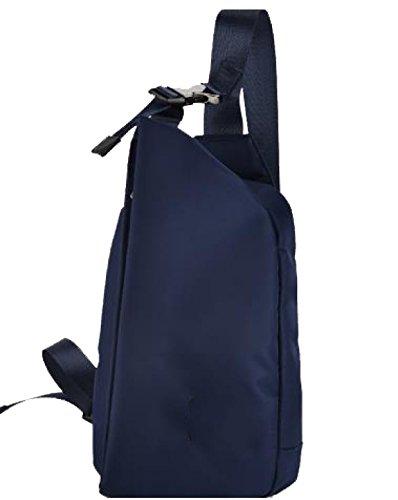 La Pechera De Yy.f Nuevos Hombres Casuales Bolsas De Mensajero De Los Hombres Bolsas De Deporte Bolso Del Pecho Bolso De Los Hombres Tela Oxford Color 2 Blue