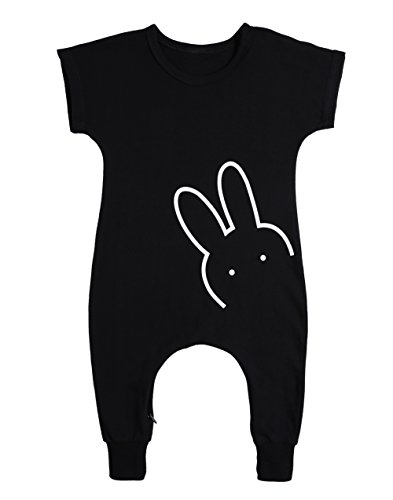 MIOIM Baby Boys Girls Rompers Cute Rabbit Bodysuit Romper Jumpsuit Outfit (height 70/US 6-9M)