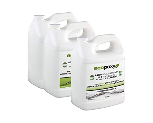 EcoPoxy Liquid Plastic 12 Liter - 2:1 Ratio Mix NEW ()