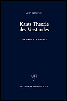 Book Kants Theorie des Verstandes (Contributions To Phenomenology) (German Edition)