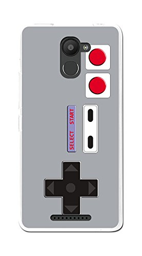 Tumundosmartphone Funda Gel TPU para BQ AQUARIS U Plus diseño Consola Dibujos