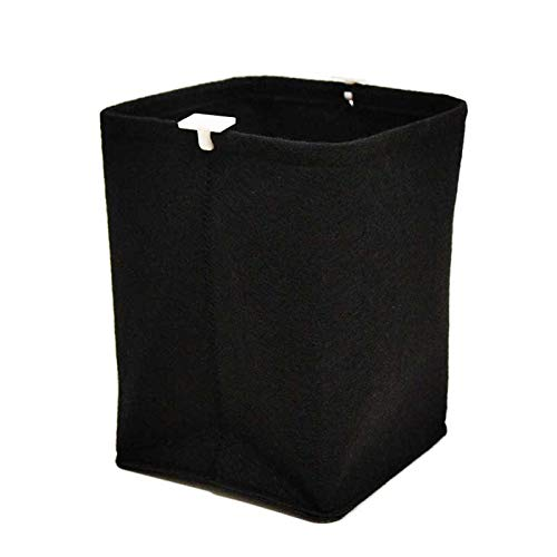 - nex&co Felt Folding Desk Trash Can, Magnetic Hanging Waste Bin Garbage Can Mini Square Felt Cloth Multi-Purpose Office Desk Organizer, Black