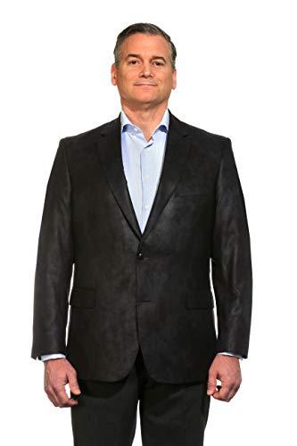 [해외]크고 키가 큰 고급 마이크로 화이버 인조 가죽 같은 슈퍼 소프트 스포츠 코트 크기 60 3 색 / Big and Tall Luxury Microfiber Faux Leather-Like Super Soft Sport Coat to Size 60 in 3 Colors