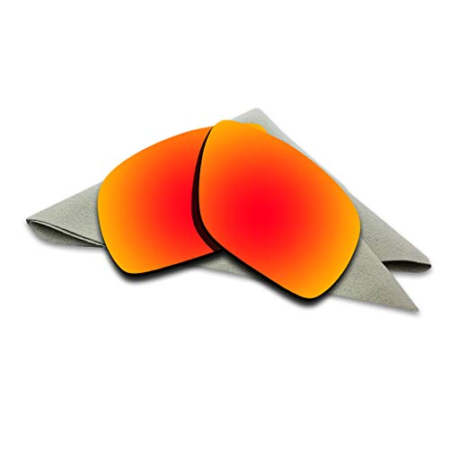 Polarized Lenses Replacement for Oakley Dispatch 1 Fire Red Mirrored