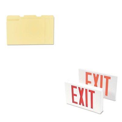 - KITTCO07230UNV12113 - Value Kit - Tatco LED Exit Sign (TCO07230) and Universal File Folders (UNV12113)