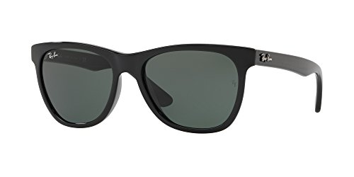 Ray-Ban Unisex RB4184 Black/Green One - Black Ray Wayfarer Sunglasses Ban