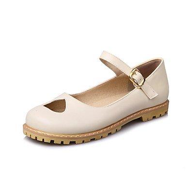 Cómodo y elegante soporte de zapatos de las mujeres pisos primavera verano otoño otros casual de piel sintética soporte de talón hebilla negro rosa beige rosa
