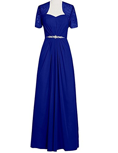 VaniaDress Women Long Mother Of The Bride Dress With Jacket V095LF Royal Blue US22W from VaniaDress