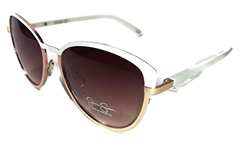 Jessica Simpson Women's J5316 Whrg Cateye Sunglasses, White/ Rose Gold, 60 - White Jessica Sunglasses Simpson