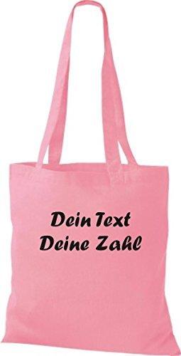 ShirtInStyle Bolso de tela Bolsa de algodón con su Texto deseado individual - Verde, 38 cm x 42 cm Rosa