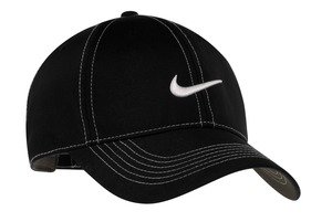 (Nike Golf - Swoosh Front Cap , 333114, Black, No Size)