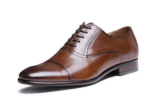 Zapatos de Hombres Zhuxin Negocios Grano de 45 de de Completo de Black para Vestir Size Color de Retro Brown Cuero de Zapatos EU Patente Oxford Cuero dawarFHqx