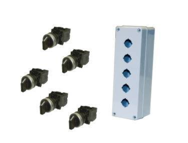 22mm, (5) 2 Position Toggle Switches with (Housing Enclosure)