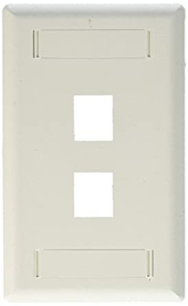 1 Gang 4-7//8 In L X 3-1//8 In W 0.255 In T 1 Pack White Leviton PJ8-W 022-00Pj8-00W 1-Duplex Receptacle Midway Size Wall Plate