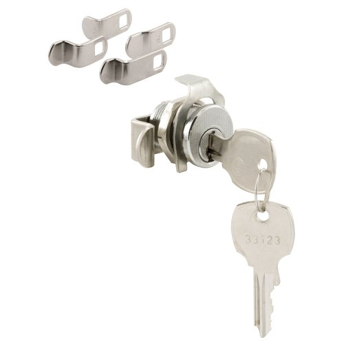 (Prime-Line S 4573 Mailbox Lock - Replace Damaged or Missing Mailbox Locks, 90 Degree Rotation, Opens Counter-Clockwise, National Keyway, Nickel Finish)