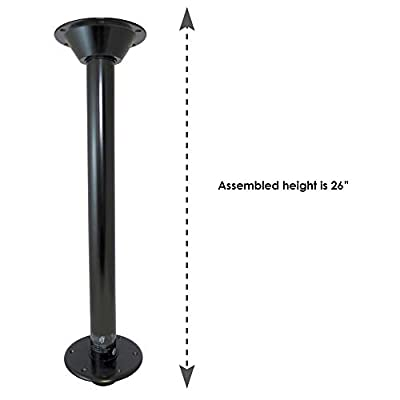 Manufacturers' Select ITC SurFit Table Leg System for RV or Boat (Black, 27