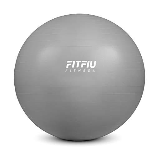 Fitfiu -AB0075 Balón para pilates y yoga, Color Gris Oscuro, 75 cm ...