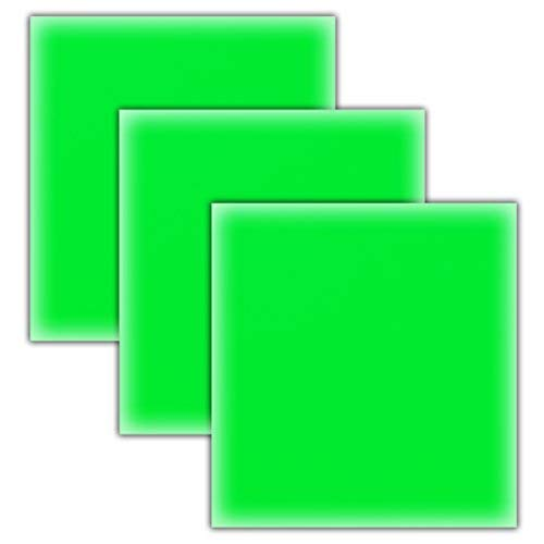 GlitZ VinylZ Neon Green HTV Heat Transfer Vinyl Sheets/3 Pack Bundle/Cricut, Silhouette Cameo, Iron On Or Heat Press Machine/Make Amazing T Shirts USA Packed-10 1/12 X 9 5/8