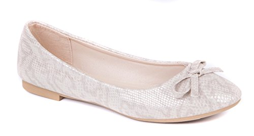 Cream On Shoes Ballet Ballerina Slip amp; Pumps Womens 7pq08wzw