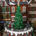 12.5 in. Animated Holiday Downtown, LED Lighted Animated Snowy Christmas Village House Scene by Home Accents Holiday (Image #3)