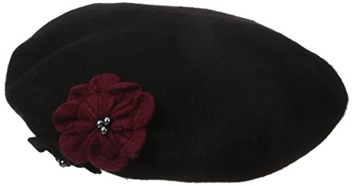 Collection XIIX Women's Flower Beret, Black, One Size