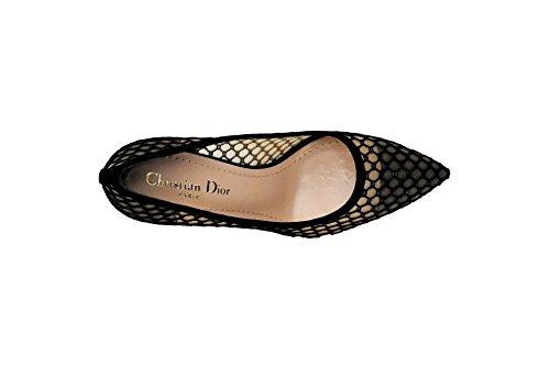 Cuero Noir Dior Choc de para Cordones Zapatos Saint D de Laurent Mujer IBq5xzzf