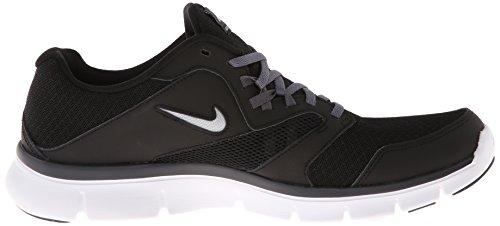 Flex Experiencia Rn 3 para hombre Negro Rojo top del punto bajo de los zapatos corrientes atléticos Black / Metallic Silver / Dark Grey Grey / White