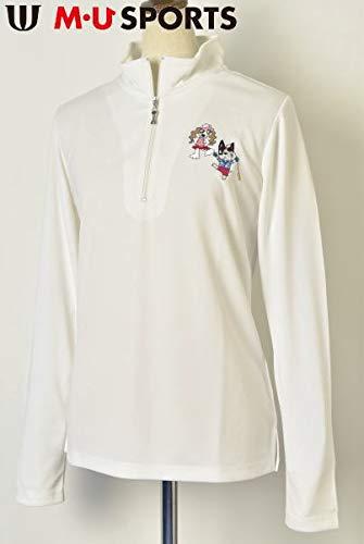 [MUスポーツ] ハーフジップシャツ レディース ゴルフ L(42) アイボリー(002) B07Q569JWR