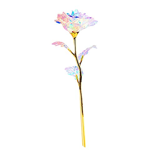 YJYdada Creative Colorful Luminous Rose Artificial LED Light Flower Unique Gifts for Girls (B)