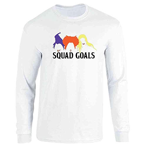 Pop Threads Squad Goals Witches Halloween Costume White 3XL Long Sleeve T-Shirt ()
