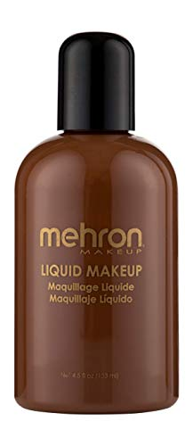 Mehron Makeup Liquid Face and Body Paint (4.5 oz) (SABLE)