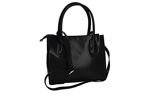Borsa donna a mano PIERRE CARDIN nero pelle Made in Italy VN1442